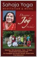 Free Music and Mediation Concert - Sahaja Yoga - Sat 12 Dec 11am South Perth South Perth Area Preview
