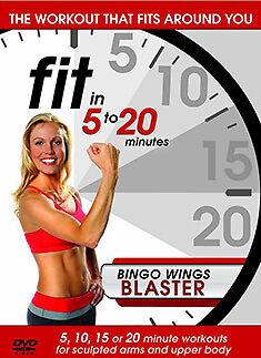 FIT IN 5 TO 20 MINUTES - BINGO WINGS BLASTER - DVD - REGION 2 UK - Fitness Bingo