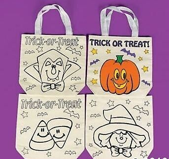 1 Paint Your Own Halloween Canvas Tote Bag   8 3/4