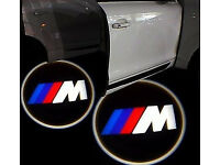 2 x BMW M3 M-TECH 3D COB LED DOOR LOGO COURTESY LIGHT LASER GHOST PROJECTOR SHADOW PUDDLE LAMPS