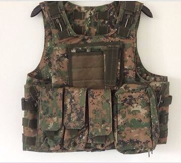 Digital Marpat Tactical Vest with Quick Release System, NEWin Grimsby, LincolnshireGumtree - Digital Marpat Tactical Vest with Quick Release System, NEW This is one of my many vests, I have two of these and this was my backup in case my current one was damaged, it has not been used but stored in a vacuum bag hence its new condition. I am...