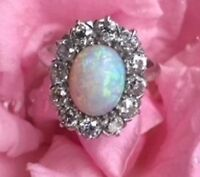 REWARD LOST Opal Ring with Diamonds