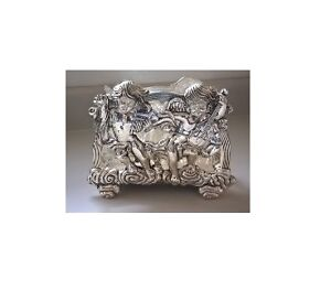 Silverplated Napkin Holder with Angels and Cherubs Playing Cello