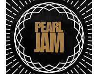 2 x Pearl Jam tickets Tues 17th July London O2