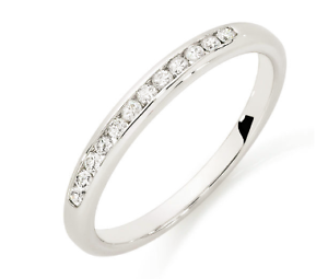 White Gold Wedding Band Eternity Ring with Diamonds (RRP $1029) Scarborough Stirling Area Preview