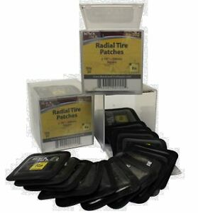 20 x Premium Radial Tyre Repair Patch 54mm Square - Made In USA