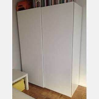 excellent condition ikea wardrobe with hasvik sliding doors white in bradford west. Black Bedroom Furniture Sets. Home Design Ideas