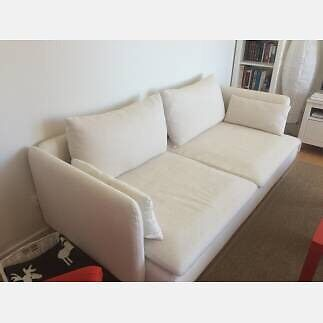 Ikea Soderhamn Sofa 3 Seater Natural Cream Off White
