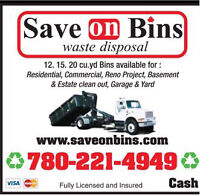 Low Cost Bin Rental Save On Bins Edmonton 780-221-4949