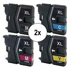 2x Brother LC-985 Multipack (huismerk inktcartridges)
