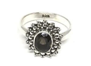 REDUCED - Sterling Silver Smokey Quartz Ring and other