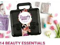 Beauty box with products