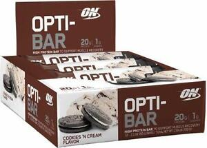 ON HIGH PROTEINE WHEY ISOLATE OPTI-BAR COOKIE & CREAM - OPTIMUM NUTRITION - BARRES WHEY ISOLATE PROTEINES : BOITE / BOX