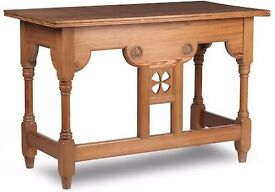 Antique Pitch Pine Hall Table