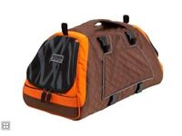 Jet Set Pet Carrier, Large, Orange / Brown