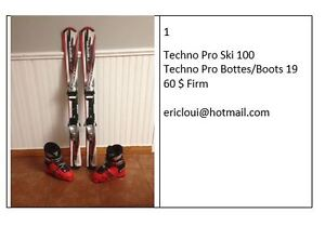 Ski et bottes / Ski and boots 100 with 19