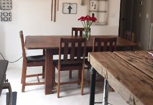 *REDUCED* Mid Century Oak Table & Chairs in need of refinishing