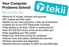 Computer, Laptop and Mac IT support, repair, virus removal, slow computers fixed. Local in Bath.