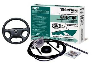 Teleflex-SS13714-14-QUICK-CONNECT-ROTARY-BOAT-STEERING-PACKAGE-WITH-13-WHEEL