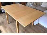 Solid Beech Extending Table 90-150cm FREE DELIVERY 480