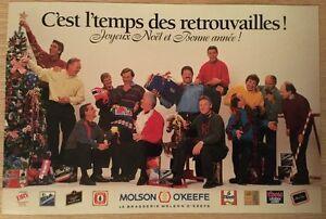 Carton ''C'est le temps des retouvailles'' Molson - Canadiens