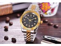Calendar Gold Quartz watch