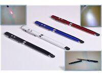 *4 in 1* Ballpoint pen, Phone, Tablet Touch screen stylus, LED, Laser. Gift