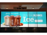 DIGITAL ADVERTISING ,DIGITAL MENU BOARD, ADVERTISING SCREEN