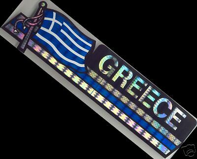 Greece, Ellás-Hellenic Republic Flag Bumper Sticker NEW