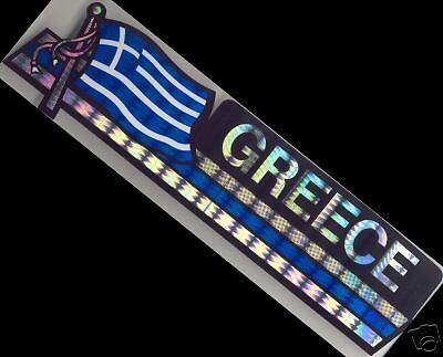 Greece, Ellás-Hellenic Republic Flag Bumper Sticker NEW