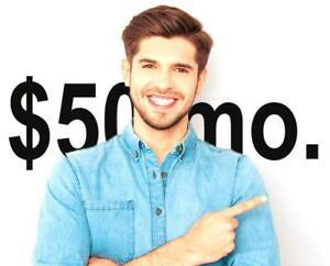 $50/month - Website Design and Web Design + Maintenance - $50/month