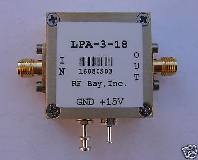 1-3000mhz Wideband 20db Amplifier Lpa-3-18 New Sma