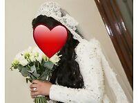 White Rhinestone Bridal Dress