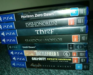 PS4 GAMES Call of Duty Infinite Warfare Battlefield 1 Until Dawn Caboolture Caboolture Area Preview