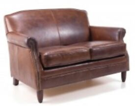 VINTAGE TWO SEATER SOFA AND CHAIR