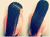Box braids + cornrows + weave mobile hairdresser available will come to your home. Based in Belfast