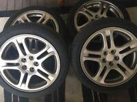 """5x100 alloys 17"""" tyres"""
