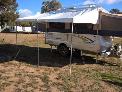 "Jayco  11"" bag awning with poles and ropes"