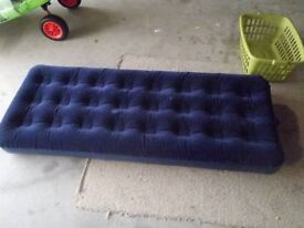 air bed single and foot pump as new tesco bargain