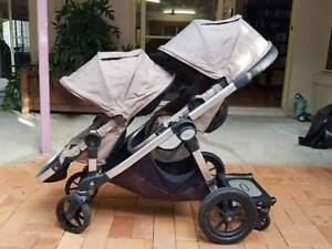 City Select Baby Jogger Double Stroller with Glider in Quartz