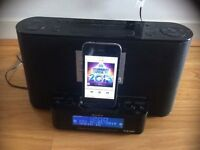 Sony XDR DS12IP Speaker Dock for Apple iPod/iPhone clock DAB radio black