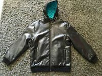 "Krew ""crocodile style"" faux leather jacket"