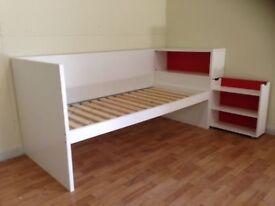 IKEA bed base , shelf and end storage