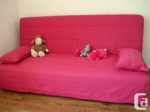 Raspberry pink beddinge futon cover from ikea