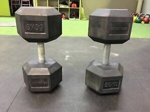 50kg Pair IronEdge Hex Dumbbells Alfords Point Sutherland Area Preview