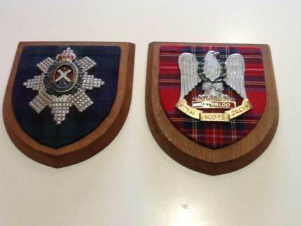 SCOTTISH MILITARY WOODEN PLAQUES Welshpool Canning Area Preview