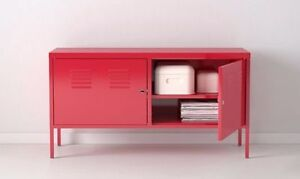 Like New - Ikea PS Cabinet in Red - console tv unit