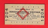 Platform Ticket Brb(s) - Borough Green & Wrotham - 3d: Red Diamond - 1977 -  - ebay.co.uk