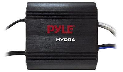 Pyle PLMRMP1B 2 Channel 400 Watt Waterproof Micro Marine Amplifier