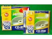 4 x MEMOREX CD-RW's - HIGH SPEED - 700mb